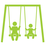 Icon of kids on a swingset